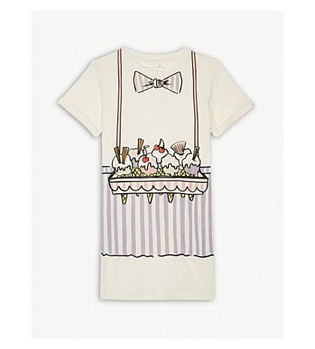 STELLA MCCARTNEY Ice cream print cotton t-shirt dress 4-14 years (Cloud