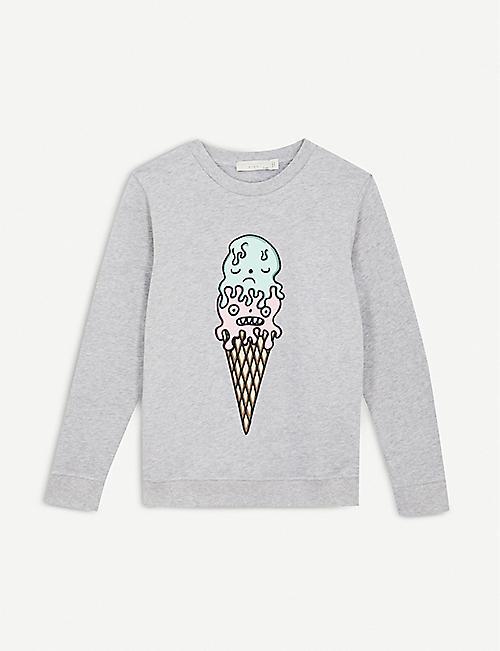 STELLA MCCARTNEY Betty icecream-print cotton sweatshirt 4-12 years