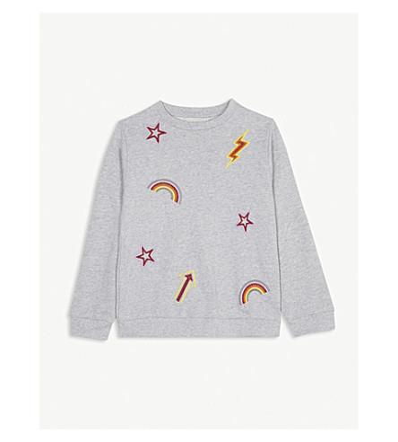 STELLA MCCARTNEY Betty appliqué cotton sweatshirt 4-16 years (Thunder
