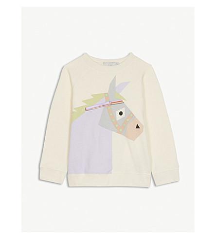 STELLA MCCARTNEY Betty donkey print cotton sweatshirt 4-14 years (Cloud