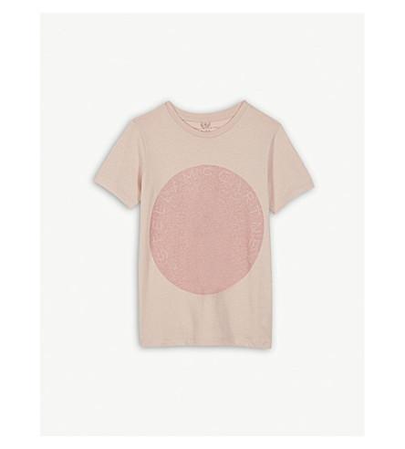 STELLA MCCARTNEY Arlow glitter logo T-shirt 4-16 years (Dusky+rose