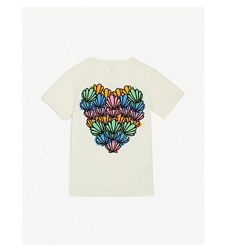 STELLA MCCARTNEY Lolly Heart printed cotton T-shirt 4-16 years (Cloud