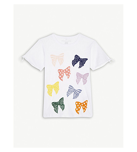 STELLA MCCARTNEY Dorine bow print cotton t-shirt 4-16 years (White