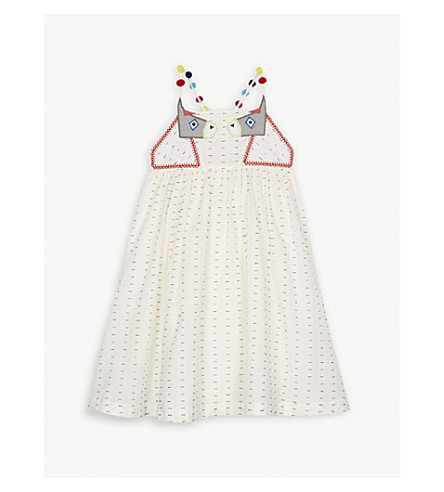 STELLA MCCARTNEY Pear sleeveless cotton dress 4-16 years (Cloud