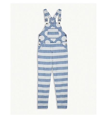 STELLA MCCARTNEY Ruthie striped dungarees 4-16 years (Denim