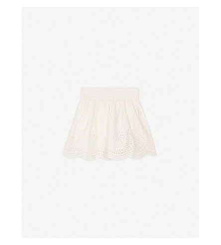 STELLA MCCARTNEY Reyna cotton skirt 4-14 years (White