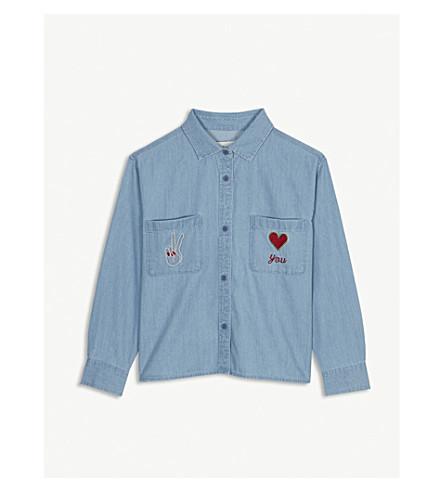 STELLA MCCARTNEY Alyson denim long-sleeved shirt 4-16 years (Denim