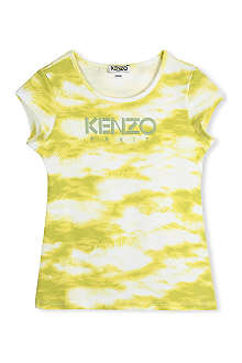 KENZO Cloud-print t-shirt 2-16 years