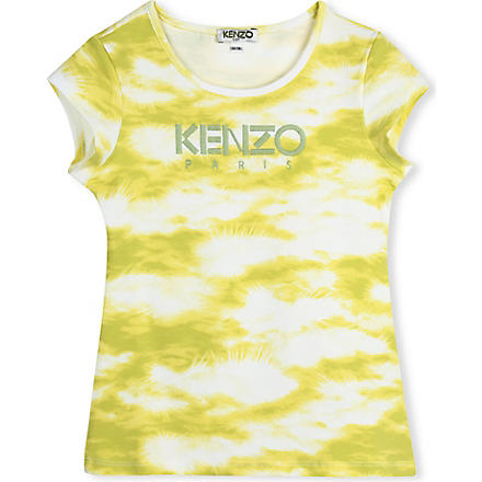 KENZO Cloud-print t-shirt 2-16 years (Yellow