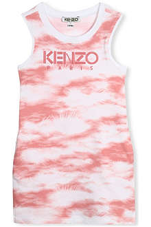 KENZO Cloud-print vest dress 2-16 years