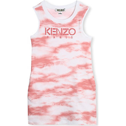 KENZO Cloud-print vest dress 2-16 years (Pink