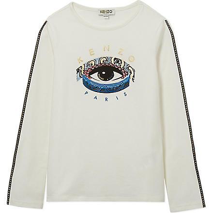 KENZO Printed eye t-shirt 4-16 years (Cream