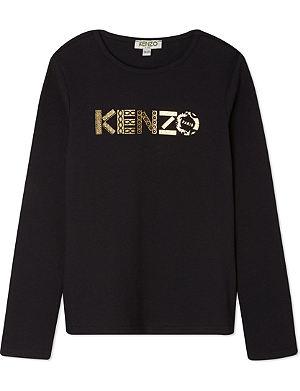 KENZO Metallic logo t-shirt 4-16 years
