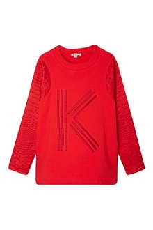 KENZO K logo snake sleeve sweat 4-16 years