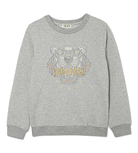 KENZO Core tiger sweatshirt 4-16 years (Grey