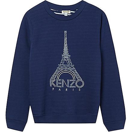 KENZO Eiffel tower jumper 4-16 years (Navy
