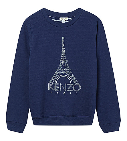 KENZO Eiffel tower jumper 4-16 years (Navy