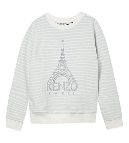 KENZO Eiffel Tower sweatshirt 4-16 years (Cream