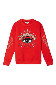 KENZO Embroidered eye sweater 4-16 years