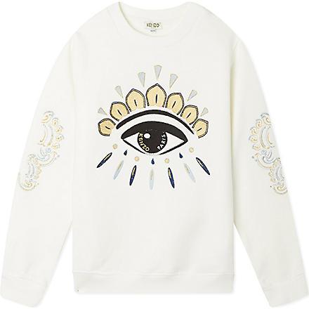 KENZO Eye motif sweatshirt 4-16 years (Cream