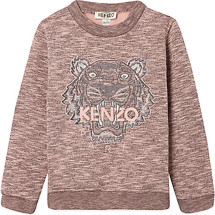 KENZO Marled tiger jumper 4-16 years (Pink
