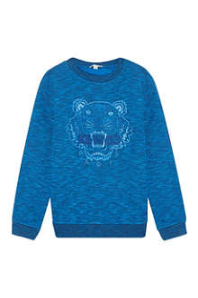 KENZO Embroidered tiger sweater 4-16 years