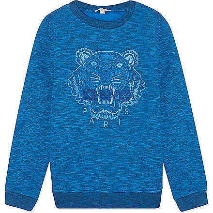 KENZO Embroidered tiger sweater 4-16 years (Blue