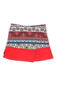 KENZO Aztec asymmetric skirt