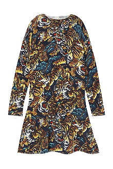 KENZO Tiger drop-hem dress 4-16 years
