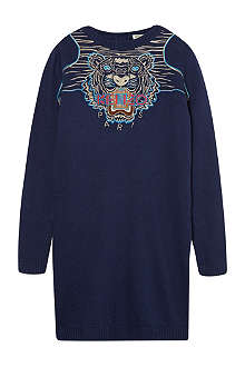 KENZO Embroidered Tiger jumper dress 4-16 years