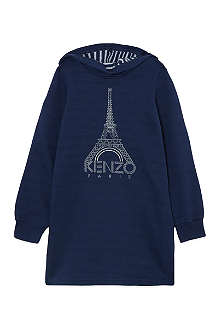 KENZO Eiffel hooded jumper dress 4-16 years