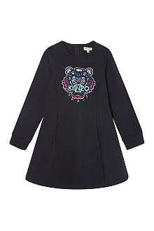 KENZO Embroidered tiger sweater dress 4-16 years