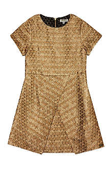 KENZO Gold jacquard dress 4-16 years