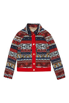 KENZO Aztec denim jacket 4-16 years