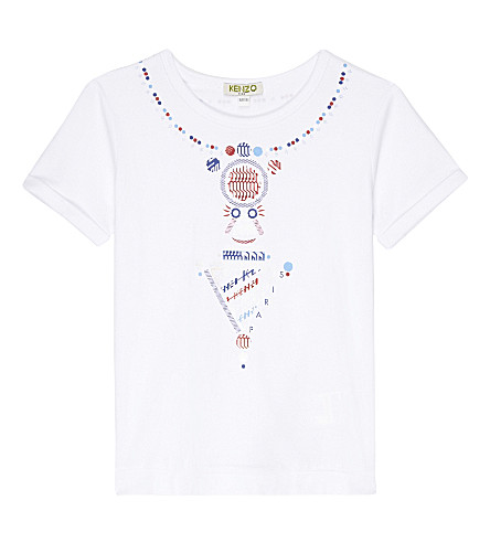 KENZO Bastia stretch-cotton T-shirt 4-16 years (Blanc