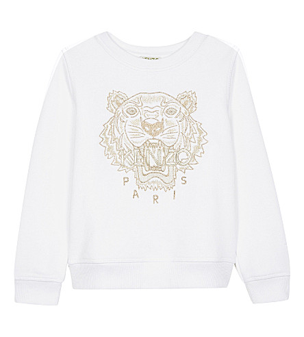 KENZO Tiger cotton sweater 4-16 years (Blanc