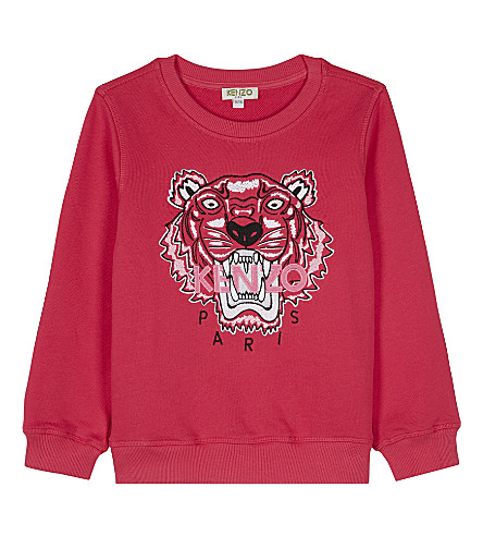KENZO Tiger cotton jumper 4-16 years (Fuchsia