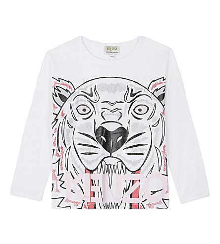 KENZO Exclusive tiger print cotton t-shirt (White