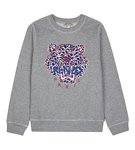 KENZO Popcorn tiger cotton sweatshirt (Grey