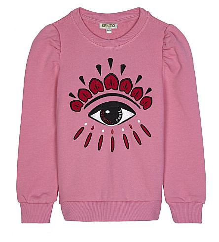 KENZO Eye cotton jumper 4-16 years (Hot+pink