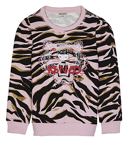 KENZO Tiger cotton jumper 4-16 years (Pink