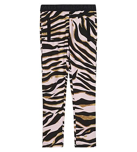 KENZO Tiger striped leggings 4-16 years (Pink