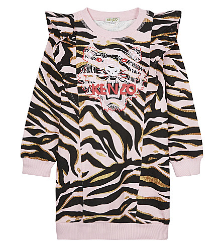 KENZO Tiger cotton dress 4-16 years (Pink