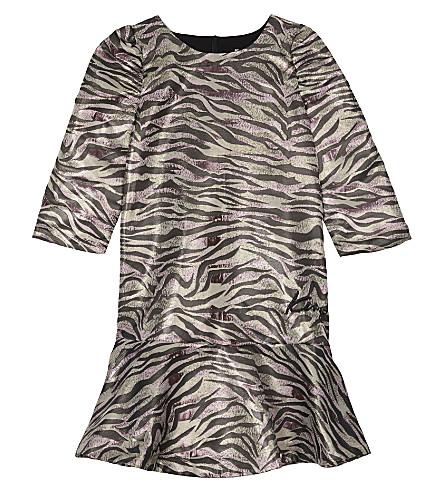 KENZO Tiger stripe metallic finish dress 4-16 years (Multi