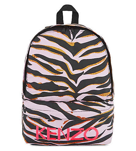 KENZO Tiger stripe backpack (Pink