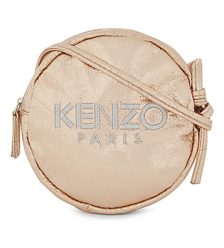 KENZO Metallic cross-body bag (Rose+gold