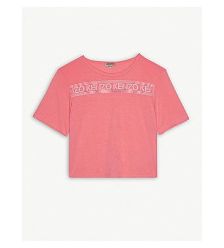 KENZO 标志霓虹 t恤4-16 年 (霓虹 + 珊瑚