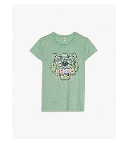 KENZO Tiger logo t-shirt 4-16 years (Green