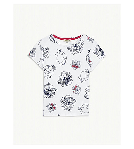 KENZO Tiger cotton T-shirt 4-16 years (White