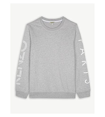KENZO Logo cotton-blend jumper 4-16 years (Grey